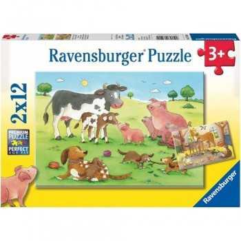Famigllie animali 2x12 pz 3+ ravensburger puzzle GIOCATTOLI