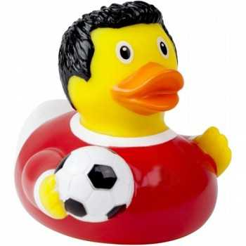 Soccer Player Duck, red - design by LILALU GIOCATTOLI