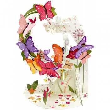 GIFT CARD Butterflies SANTORO EDIGLAM ARTICOLI DA REGALO