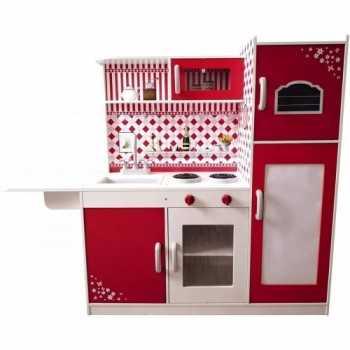 GIOCHI DI CASA - Cucina con Me ROSSA in Legno 110x118x34 GIOCHERIA SPA GIOCATTOLI