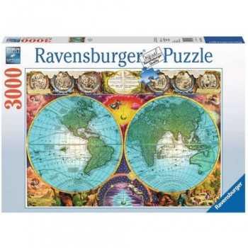 Antico mappamondo 3000 pz Ravensburger GIOCATTOLI