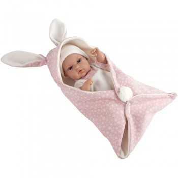ARIAS - Bebè 33 cm coperta con orecchie Rosa GIOCHERIA SPA GIOCATTOLI