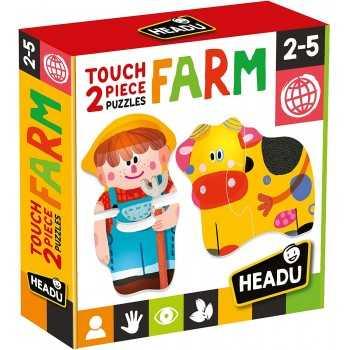 Touch 2 pieces Puzzles Farm HEADU EDUCATIVI