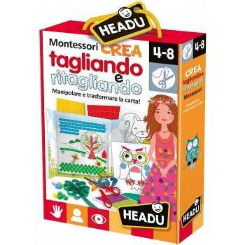 Crea Tagliando e Ritagliando Montessori HEADU EDUCATIVI