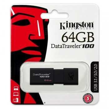 PEN DRIVE 64 Gb KINGSTON DT100 USB3.0 KINGSTON MEMORIE