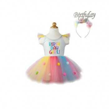 Birthday Girl Dress and Headband, Multi Great Pretenders ARTICOLI DA REGALO