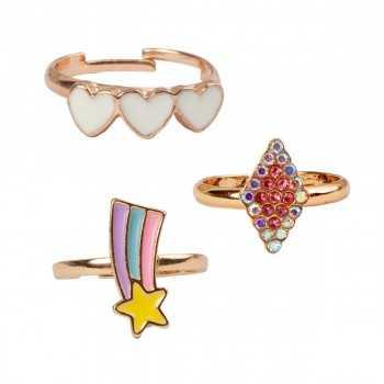Boutique Heart Star Rings, 3 Pcs Great Pretenders ARTICOLI DA REGALO