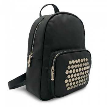 Zainetto nero con borchie