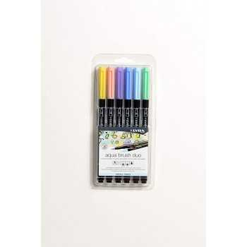 Aqua brush duo pastel tones set Fila PENNE-PENNARELLI-MATITE