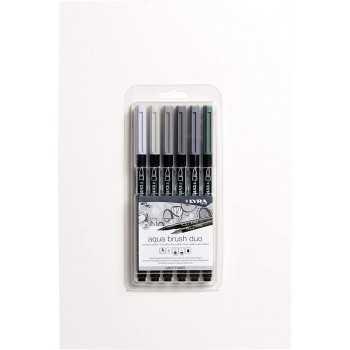 Aqua brush duo grey tones set