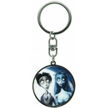 """CORPSE BRIDE - Keychain """"Victor & Emily"""" X4 ABYSTYLE GADGET"""