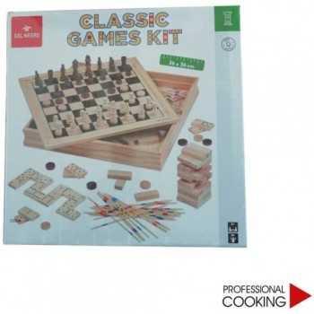 CLASSIC GAME KIT IN LEGNO DAL NEGRO TEODOMIRO DAL NEGRO GIOCHI DI SOCIETA'