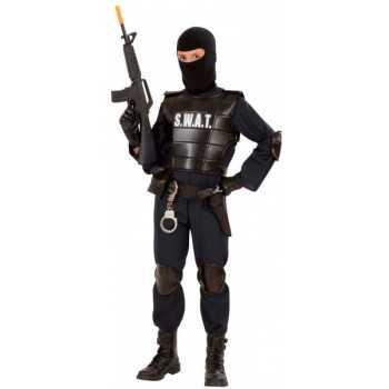 AGENTE S.W.A.T. (costume, giubbotto antiproiettile, cintura con fondina e borsellino, para ginocch 5/7 ANNI WIDMANN COSTUMI