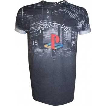 Playstation Sublimination T-shirt City Landscape (M) (Abbigliamento) BIOWORLD T SHIRT