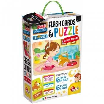 LIFE SKILLS BABY PUZZLE + FLASH CARDS IL MIO MONDO LISCIANI GIOCHI EDUCATIVI