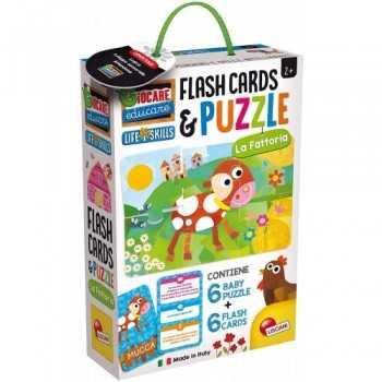LIFE SKILLS BABY PUZZLE + FLASH CARDS LA FATTORIA LISCIANI GIOCHI CREATIVI