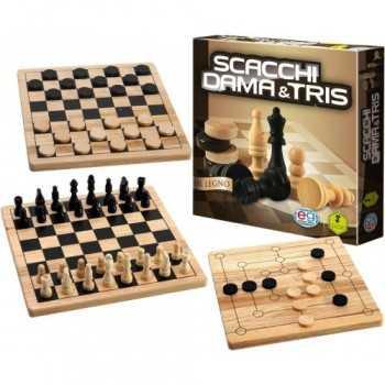 CGI CLG Wood ChessSetCheckerPC | ITEM-: SPINMASTER GIOCHI DI SOCIETA'