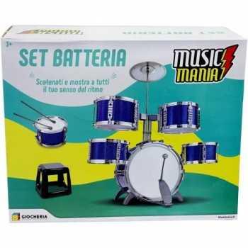 MUSIC MANIA - Batteria Professional 4 Tamburi GIOCHERIA SPA MUSICALE